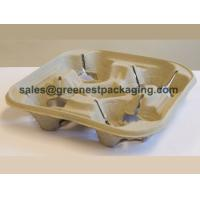 China Paper Pulp Molded 4-cell Cup Carrier on sale