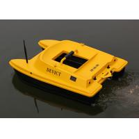 Quality Yellow rc fishing bait boat remote frequency 2.4G two engines Structure DEVC-303 for sale