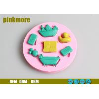 Cute Baby Duck Silicone Cake  Molds , Food Grade Baby Shower Silicone Mould