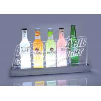 Quality Led Lighted Liquor Bottle Display With Five Acrylic Beer Bottles for sale