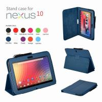 China Blue Smart Leather Nexus Tablet Protective Case 10 Inch , Anti Dust on sale