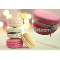 China Newly Promotional Macarons Kids Silicone Lady Purse Wallet with Zipper on sale