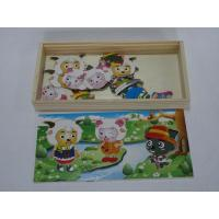 China Custom Quality and Cheap Children / Xiyangyang Dressing Toddler Jigsaw Wooden Puzzles on sale