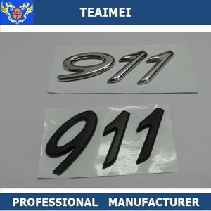 Best ABS Plastic chrome Car Sticker 911 Car Letter Emblems Badge Car Body Decoration wholesale