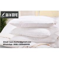 White Duck Feather Pillows Neck Health Care Pillow 100% Fine Cotton Allow The Feather To Breathe