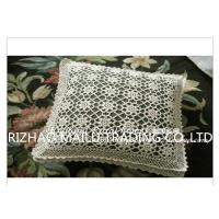 China 100% Cotton Hand Knitting Cushion Covers Hollow Out Flowers Style For Home Decoration on sale