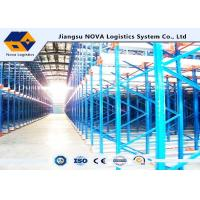 Quality Channel Type Radio Shuttle Racking , High Density Warehouse Pallet Racking for sale