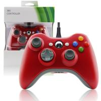 Quality Red Color XBOX 360 Game Controller Slim Wired Joystick 3 Levels Rumble Control for sale