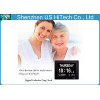 China 8 Inch Easy Operation Lcd Digital Clock Day Date Time For Dementia / Alzheimer on sale