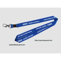 "Quality Mobile Solutions Silk Screen In White Print Neck Lanyard 36"" with Metal Crimp for sale"