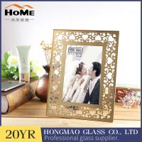 Quality Double Glass Picture Frame , Metal Brass And Glass Photo Frame For Promotion Gift for sale