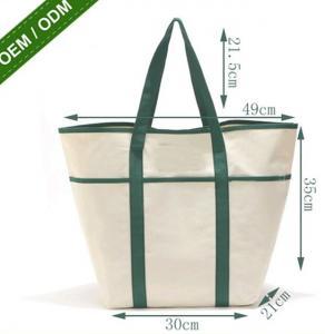 China 8oz Fashion Custom Print Logo Long Handle Canvas Bag Tote Bag,organic cotton custom printed tote canvas bag bagease pac on sale