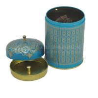 China Customized designed round tea tin box for packaging,storage,display on sale