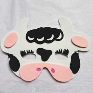 Best Halloween Christmas Children Cartoon EVA Forest Animal Cows Mask wholesale