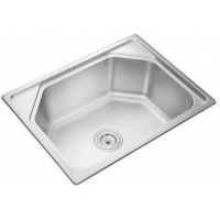 Quality 60*45CM plating deep bowl single kitchen sink stainless steel 201 for sale