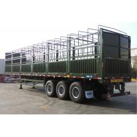 Quality 3 Axles FUWA BPW Flatbed Container Trailer 35 Tons For Cargo Transportation for sale