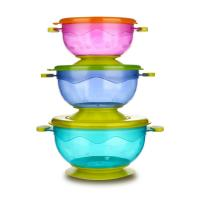 Quality FDA approved non-slip spill proof snack baby suction bowl for sale
