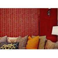 Quality 0.53*10m Sound proof Living Room Wallpaper with Stirpped Pattern , CSA SGS Standard for sale