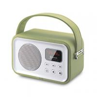 Quality 2015 new Wooden Leather decoration bluetooth speaker boombox with usb sd for sale