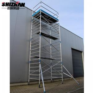 Quality Aluminium 10m Double Height Cantilever Scaffold Tower for sale