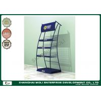 China Free standing wire display racks , Retail Display Racks with 4 tier Powder Coating on sale
