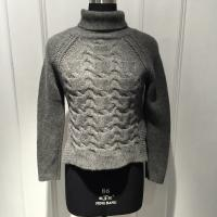 China Anti Shrink Turtleneck Cable Knit Sweater / Grey Turtleneck Sweaters For Fall on sale