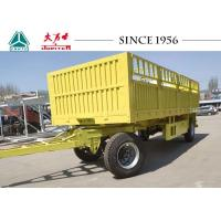China 30FT 2 Axle Storehouse Pulling Flatbed Trailer For Africa , Mechanical Suspension on sale