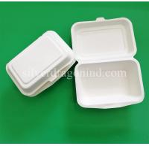 Best Disposable Biodegradable Sugarcane Pulp Paper Lunch Box ,600ml wholesale