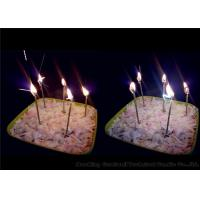 Best Long Thin Birthday Sparkler Candles Earthy Yellow 11g 0.26 * 9.9cm Wax Material wholesale