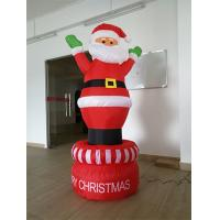 Best 190D Oxford Red And White Inflatable Santa Claus  For Christmas Day wholesale