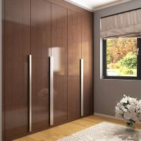 Best Custom Brown Lacquered Hinged Door Wardrobes Particle Board 3 Years Warranty wholesale