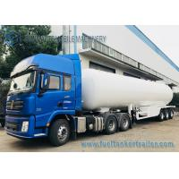 Buy cheap 3 Axles 12 Wheels 56M3 LPG Tank Semi Trailer Transport Bower Trailer from wholesalers