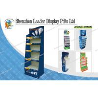 Buy cheap Portable Flooring Corrugated Carton Cardboard Displays / Custom Three Tier Display from wholesalers