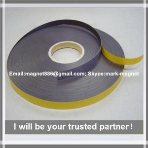 Best Magnetic strip; Flexible rubber magnet strip Магнитная лента 12,7 тип А и B с клеевым слоем wholesale