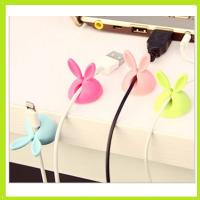 Quality cute rabbit silicone holder of cable drop clip for sale