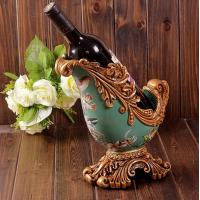 Best resin crafts Retro home decor luxury palace wine rack wholesale