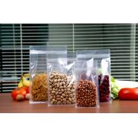 Quality High quality flat bottom food packaging clear/matte stand up pouch with zip lock in stock for sale