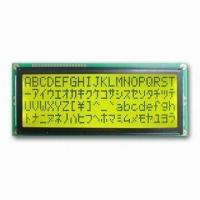 China STN LCD Alphanumeric LCD Modules with Power Supply of 5.0V on sale