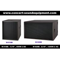 "Quality Disco Sound Equipment / 2x18"" Direct Reflex 4ohm 1200W Subwoofer For Concert , Nightclub And Living Event for sale"