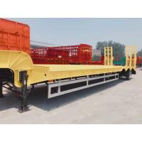 Quality Professional 3 Axle Low Bed Trailer / Low Bed Semi Trailer For Heavy Loading for sale