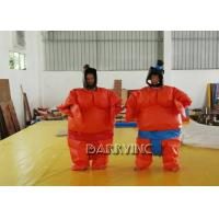 China Party Wrestling Fancy Dress Adult Inflatable Model Sumo Costume Suits With Battery on sale