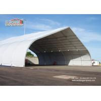 China Outdoor Aluminum Curved Roof TFS Tent For Military And Hangar , Aluminum Structure Tent on sale