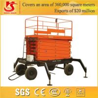 Quality hydraulic scissor lift Four wheels trali-type lift table for sale