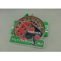 Best Die Stamped Soft Enamel Medals Customized Ribbon For Sporting Running Awards wholesale