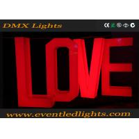 Quality Bright Wedding Led Light Up Letters Love Decoration Environment Friendly for sale