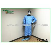 China Green , Blue Medical Sterile Disposable Surgical Gowns of Knitted Wrist on sale