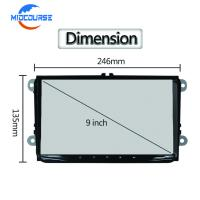 Quality 9 Inch Aftermarket Gps Head Unit Android Navigation Double Din Wifi Car Stereo for sale