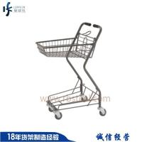 China Factory directly sale new design supermarket shopping metal folding grocery carts with 4 w on sale