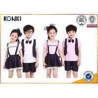 Summer Lapel Embroidered School Uniform For Primary School Students