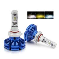 Buy cheap Auto Lighting System H4 Led Three Color 9005 9006 Headlight Bulbs H11 X3 Car H7 from wholesalers
